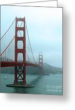 Sailing Under The Golden Gate Bridge Greeting Card