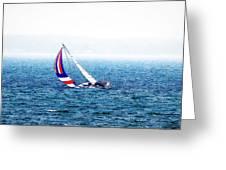 Sailing Vinyard Sound  Photo Art Greeting Card