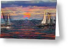 Sailing While Dreaming Greeting Card