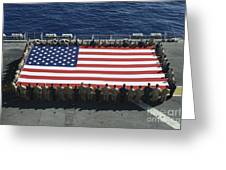 Sailors And Marines Display Greeting Card