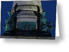 Sailors And Soldiers Monument By Night Greeting Card