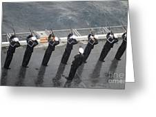 Sailors Fire A 21-gun Salute Greeting Card