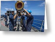 Sailors Load Rim-7 Sea Sparrow Missiles Greeting Card
