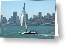 Sailors View Of San Francisco Skyline Greeting Card