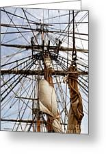 Sails Aboard The Hms Bounty Greeting Card