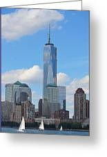 Sails And Skyline Greeting Card