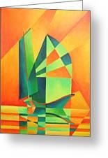 Sails At Sunrise Greeting Card
