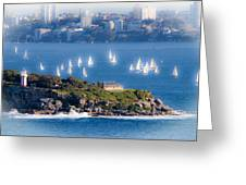 Sails Out To Play Greeting Card
