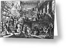 Saint-aubin Louvre, 1753 Greeting Card