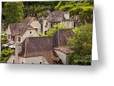 Saint Cirq Rooftops Greeting Card