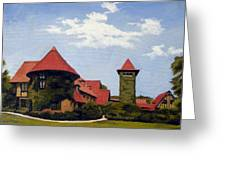 Saint Clements Castle Portland Connecticut Greeting Card