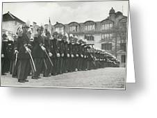 Saint Cyr Cadets At Ecole Polmtechnique Greeting Card