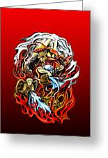 Saint Florian Greeting Card by Michael Spano