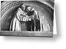 Saint Francis And Saint Dominic Greeting Card
