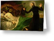 Saint Francis Borgia Helping A Dying Impenitent Greeting Card