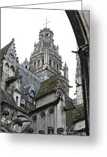 Saint Gatien's Cathedral Steeple Greeting Card