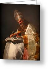 Saint Gregory The Pope Greeting Card