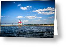 Saint Joseph Lighthouse And Pier Picture Greeting Card