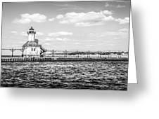 Saint Joseph Lighthouse Retro Panoramic Photo Greeting Card