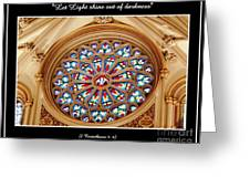 Saint Josephs Cathedral Stained Glass Window Buffalo New York Greeting Card