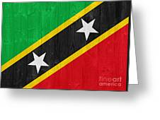 Saint Kitts And Nevis Flag Greeting Card