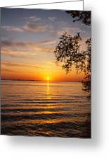 Saint Lawrence River Sunset V Greeting Card