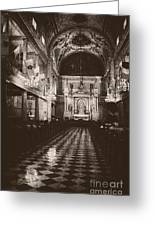 Saint Louis Cathedral New Orleans Black And White Greeting Card