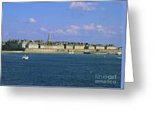 Saint Malo. Ille Et Vilaine. Brittany. Bretagne. France. Europe Greeting Card by Bernard Jaubert