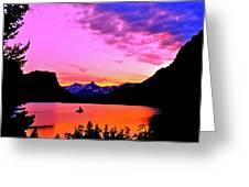 Saint Mary Lake Twilight Greeting Card