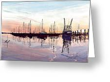Saint Marys Marina   Shadows Light And Fire Greeting Card