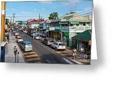 Saint Mary's Street Greeting Card by Luis Alvarenga