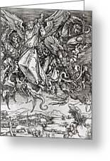 Saint Michael And The Dragon Greeting Card