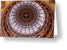 Saint Nicholas Church Dome Interior In Amsterdam Greeting Card