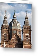 Saint Nicholas Church In Amsterdam Greeting Card