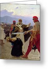 Saint Nicholas Of Myra Saves Three Innocents From Death Greeting Card