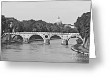 Saint Peter's Basilica Dome At Distance Greeting Card