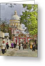 Saint Petersburg Saint Alexander Cathedral Greeting Card