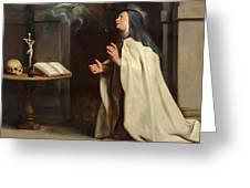 Saint Teresa Of Avila's Vision Of The Holy Spirit Greeting Card