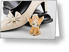 Saint Valentine Angel With Two Shoes Greeting Card