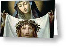 Saint Veronica Greeting Card