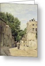 Saint-vincent Street, Montmartre Oil On Canvas Greeting Card