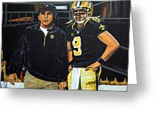 Saints Dynamic Duo Greeting Card