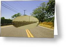 Sakonnet Point Road In Little Compton Rhode Island Greeting Card