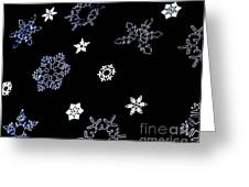 Saks 5th Avenue Snowflakes Greeting Card