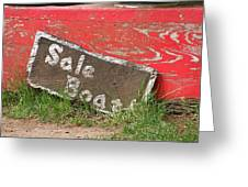 Sale Boat Greeting Card