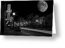 Salem Ohio Winter Moon Greeting Card