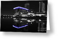 Salford Quay Reflection Greeting Card