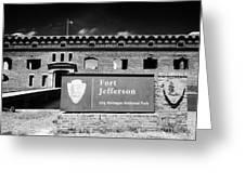 Sally Port Entrance To Fort Jefferson Dry Tortugas National Park Florida Keys Usa Greeting Card by Joe Fox