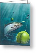Salmon Dowrigger Greeting Card