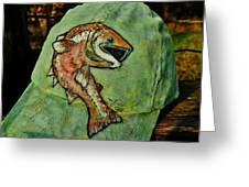Salmon Fishing By V Lee Greeting Card